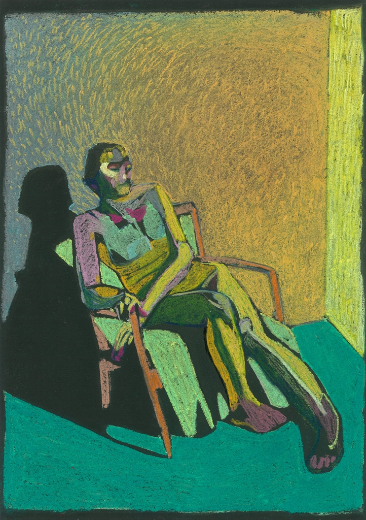 Nude on Black 1, 2017, pastel on paper, 42 x 29.7cm.