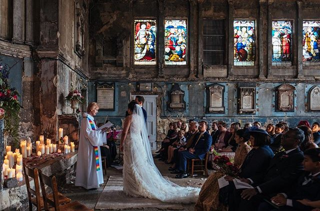A magical ceremony on Saturday with Wolf and Jenny @theasylumvenue in Peckham.  A photographers dream to shoot here! . . . #theasylum #theasylumvenue #londonwedding #londonweddingphotography #unusualweddingvenue #deconsecratedchurch #paintingwithlight #thechapel #weddinginspo #vscocam #vsco #junebugweddings #huffpostido