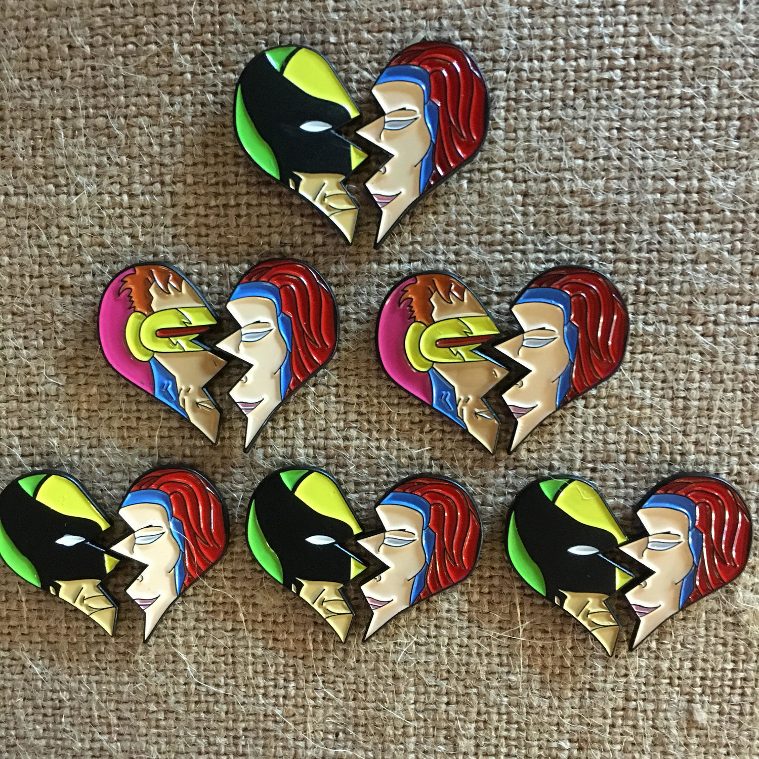 X Lovers Love Triangle Enamel Pin Sets — Cape & Cowl Comics