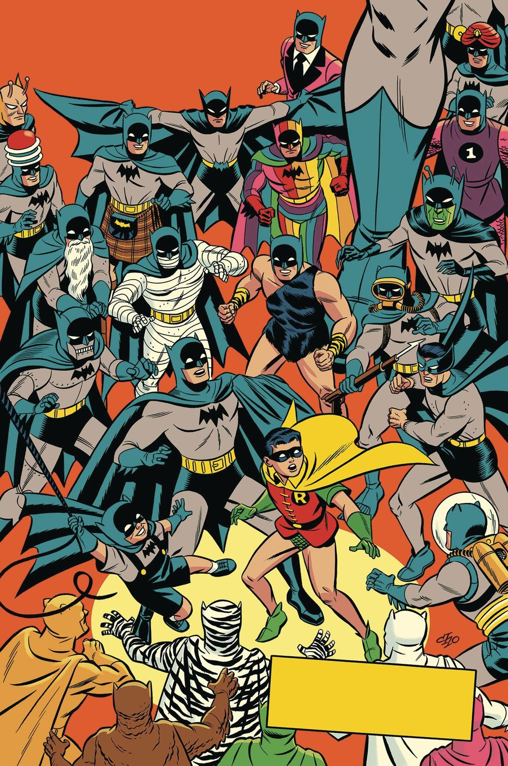 D. Detective Comics #1000 1950s Variant by Michael Cho -