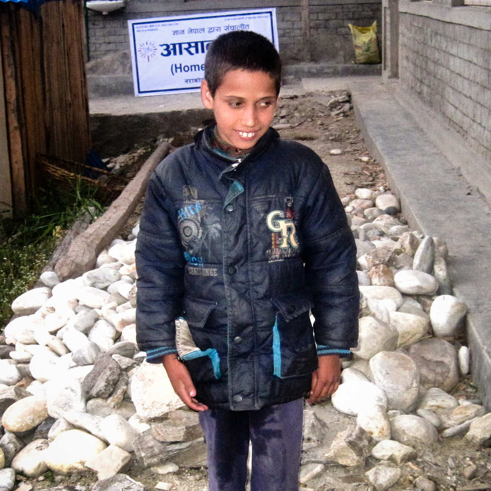 Sailendra Acharya is nine years old and he studies in grade three. He was blind in one eye from birth. Over time, his good eye developed a severe pain, and he eventually went completely blind. Sailendra is the youngest of five.