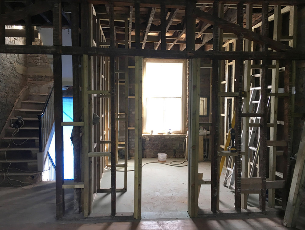 September 2016  The skeleton frame at London Fields.. future en-suite.   Link to project