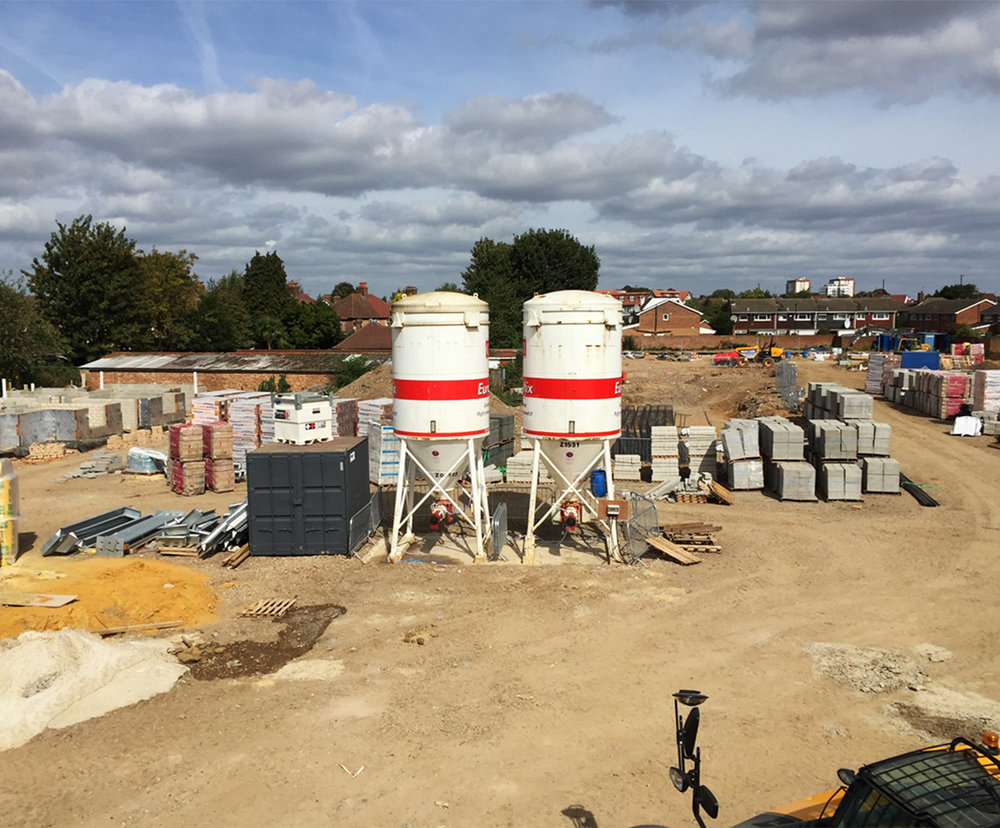 August 2018  Mobilisation…site set up underway for our new housing scheme in Hounslow.   Link to project