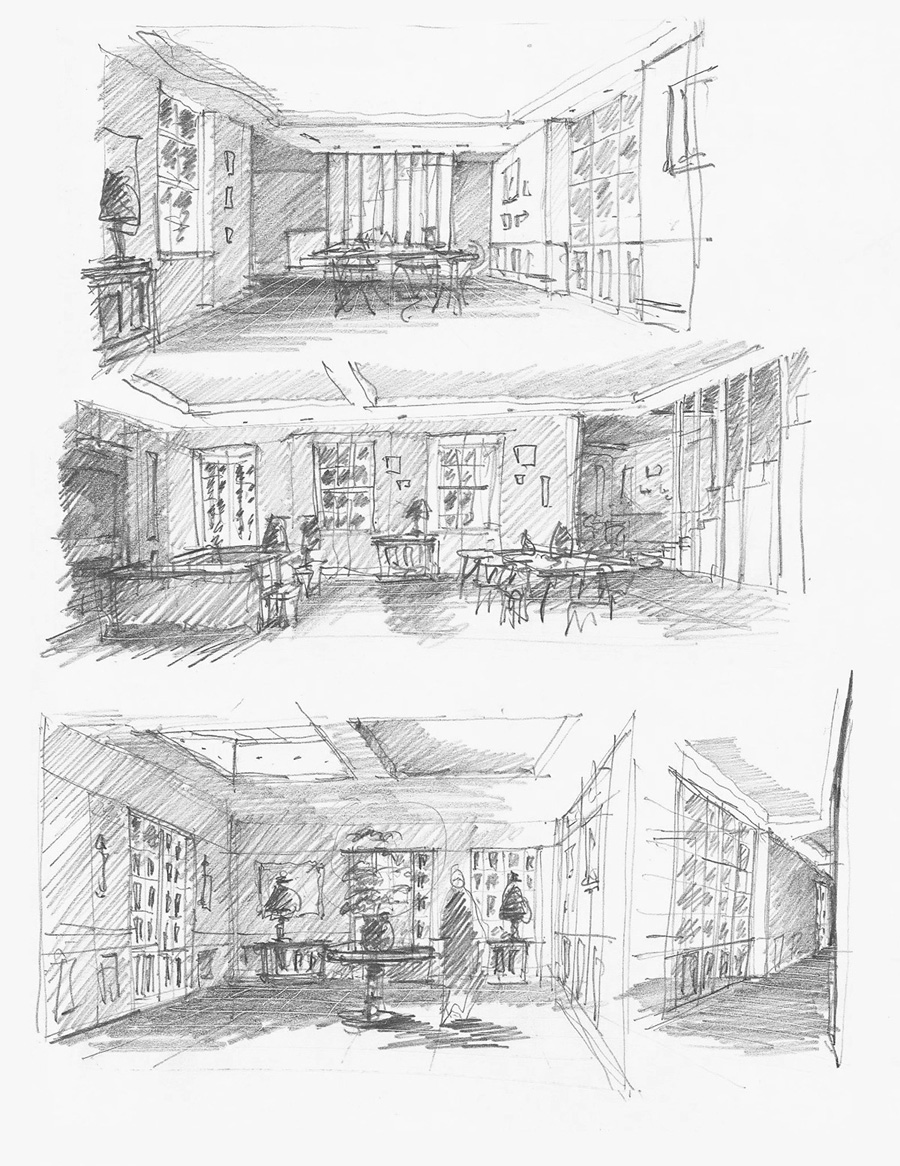 October 2017  First thoughts for extending and modernising a pair of mews houses in Battersea…