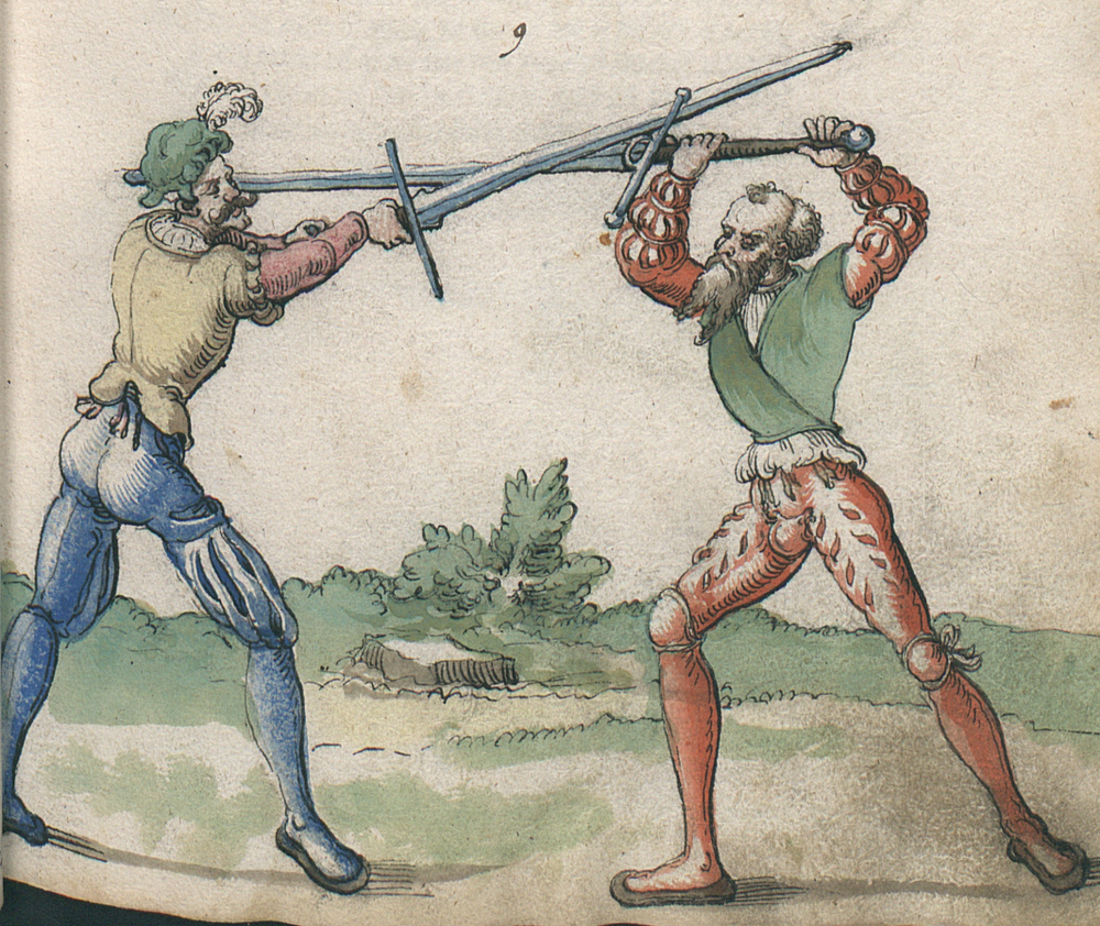 Illustration of a Twerhaw device from Goliath (Ms. germ. quart. 2020, f 22r)