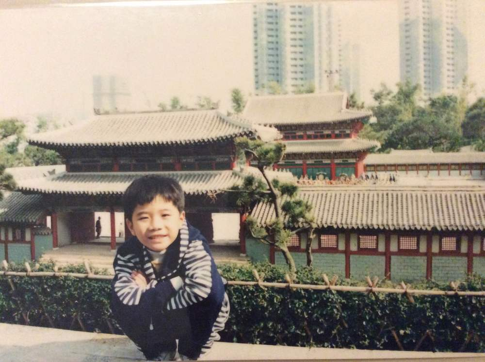 Ryan as a boy in China
