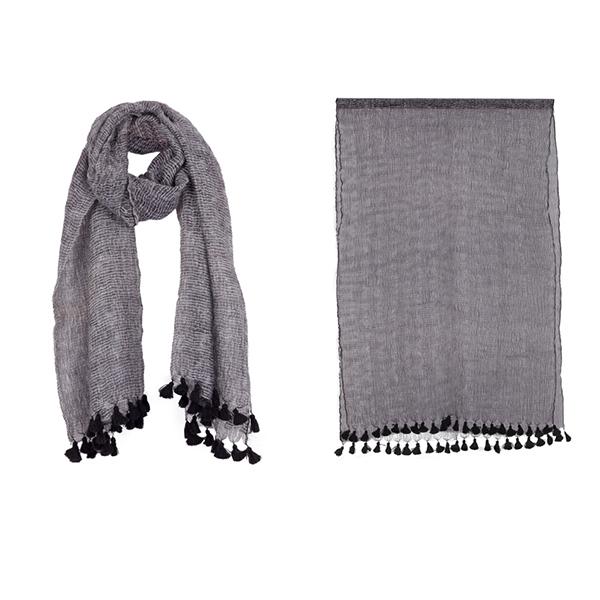 """002-002  YOKO SCARF   100% Wool;Handwoven;27.5"""" X 71"""""""