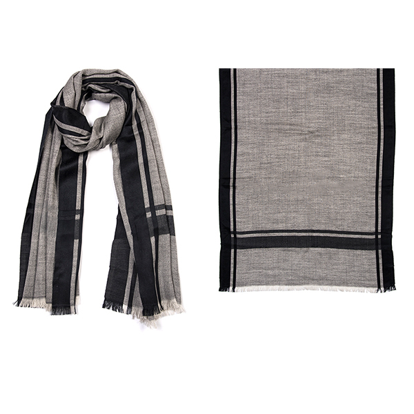 "001-044-BK   WELL SUITED SCARF BLACK   ALSO AVAILABLE IN PLUM 85% Wool,15% Silk; 27.5"" X 71"""