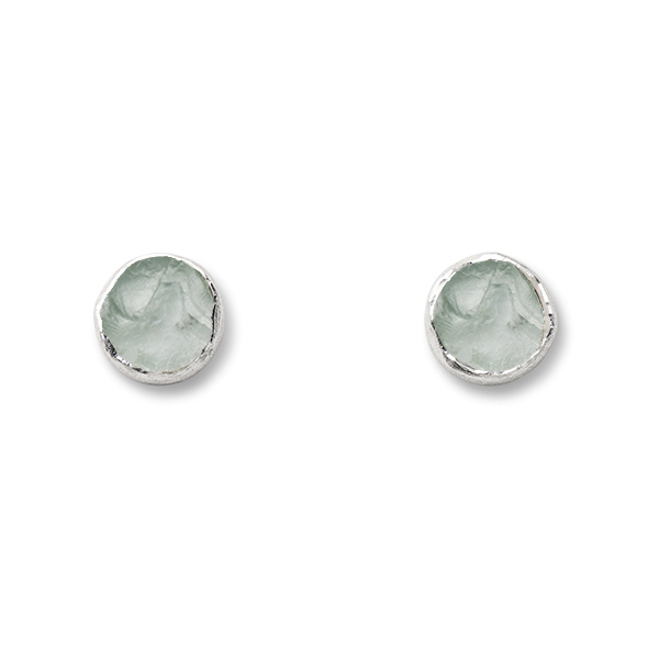 SJ147-AQ   WHIRLPOOL STUDS    Aquamarine; Kaotica Finish; 9mm Round