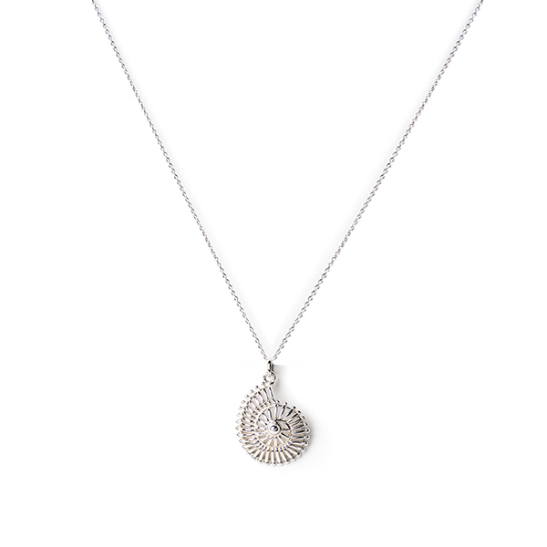 MISC064   SPIRAL SHELL NECKLACE      High Polish Finish