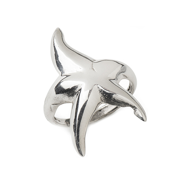 CB079   STARFISH RING        High Polish Finish