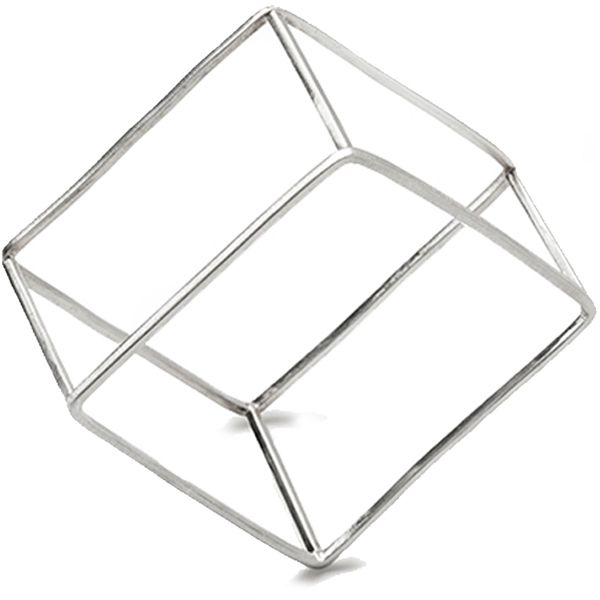 VG979SS CUBOID BANGLE   High Polish Finish
