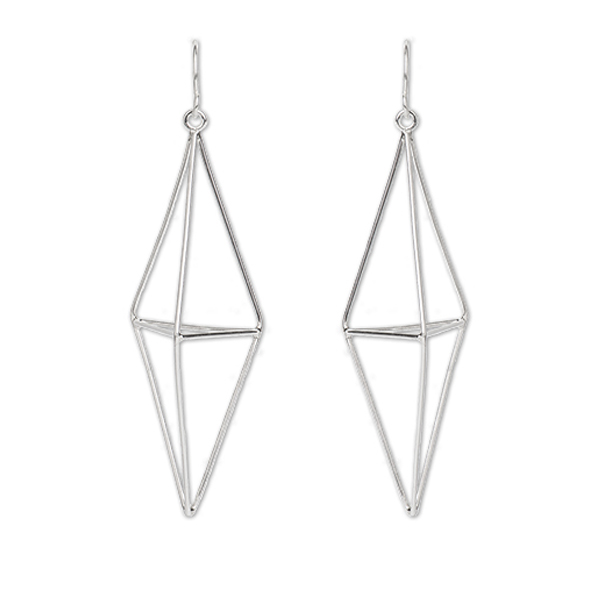 MISC20   PRISM EARRINGS     High Polish Finish