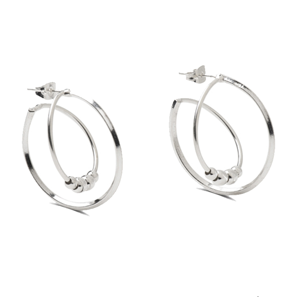 MM317   ORBITAL EARRINGS    High Polish Finish