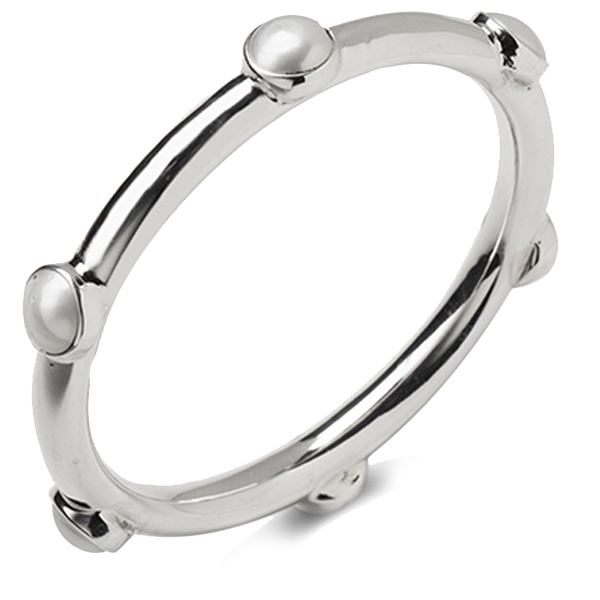 SL316   PEARLESSENCE BANGLE   Fresh Water Pearl; High Polish Finish
