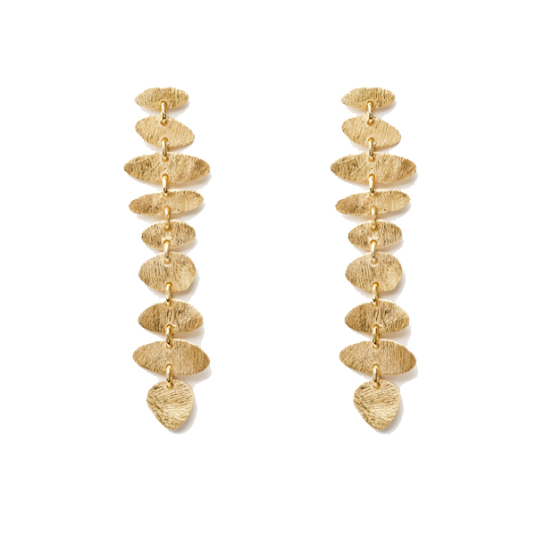 VG465   DARLING EARRINGS   Available in 18K Gold Plate over Sterling Silver (pictured), or Sterling Silver; Kaotica Finish