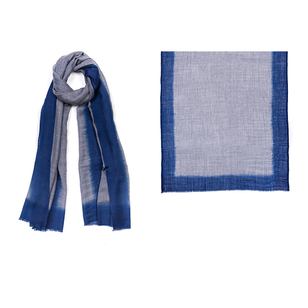 "001-010-SP   ROTHKO SCARF SAPPHIRE    92% Wool, 8% Silk;  Hand-Dyed; 27.5"" x 75"""
