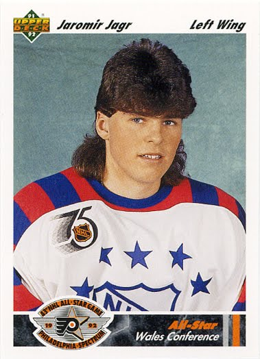 Jaromir Jagr and his mullet, circa 1992. Source: Center Ice Chat