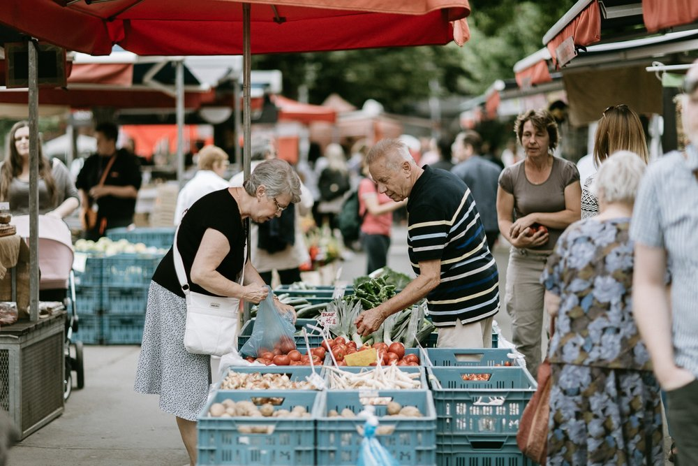 Jirak farmers market Prague