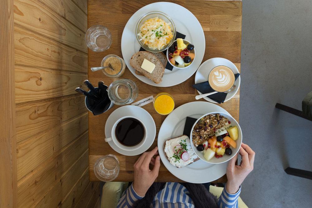 Breakfast at Cafe Jen, Prague