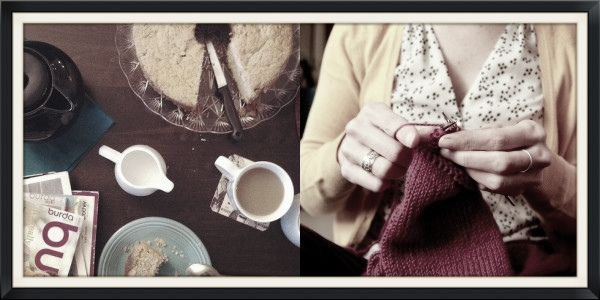 Knitting and treats