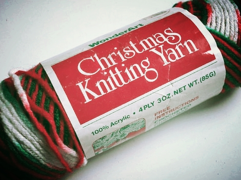 Christmas knitting yarn