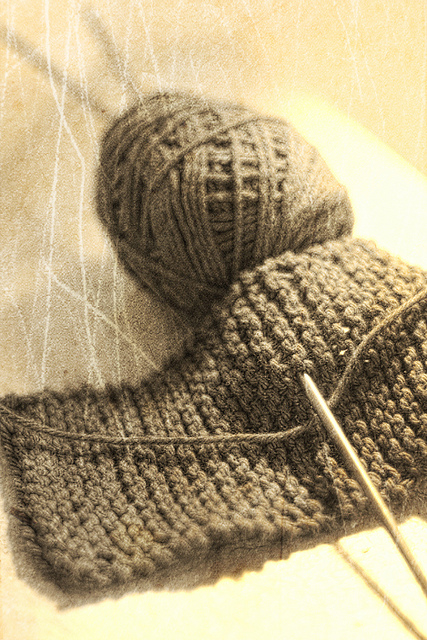 Knitting class sample