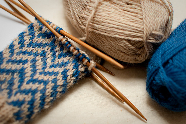 Learn knitting in the round at class