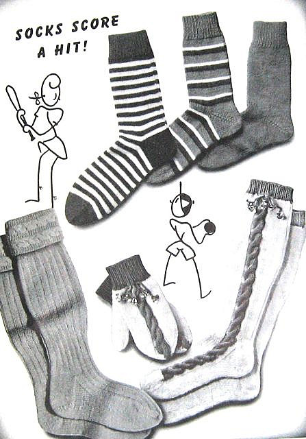 Knitting socks of different styles