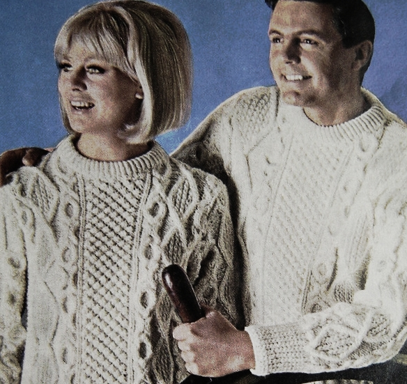 Cable knitted sweaters