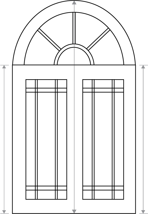 Measuring for Arched Window   (Click to enlarge )
