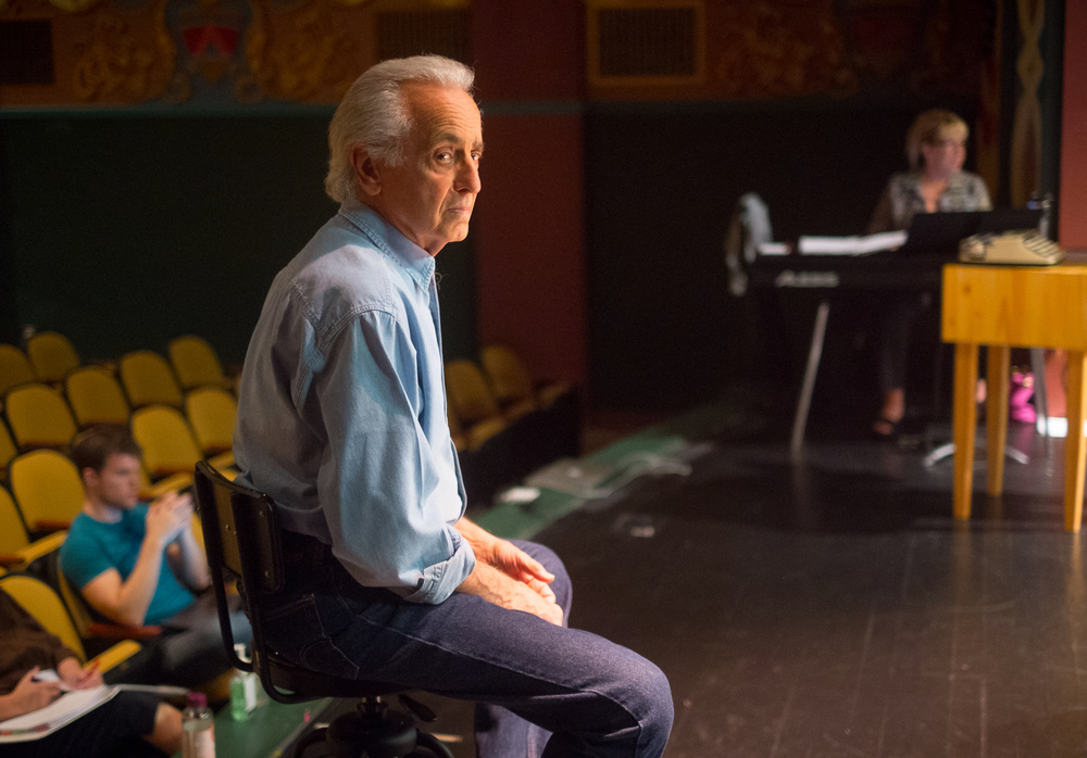 Playwright and director Mark Medoff in the middle of rehearsals of his new play the Rio Grande Theatre.