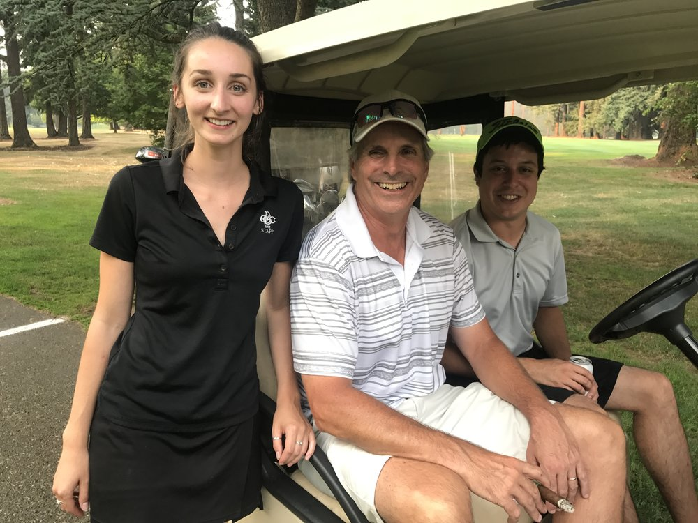Serena, David and Roy at Member Employee Golf Tournement