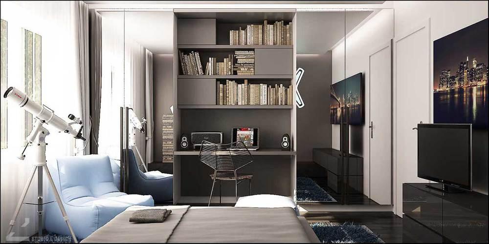 teen bedroom interior