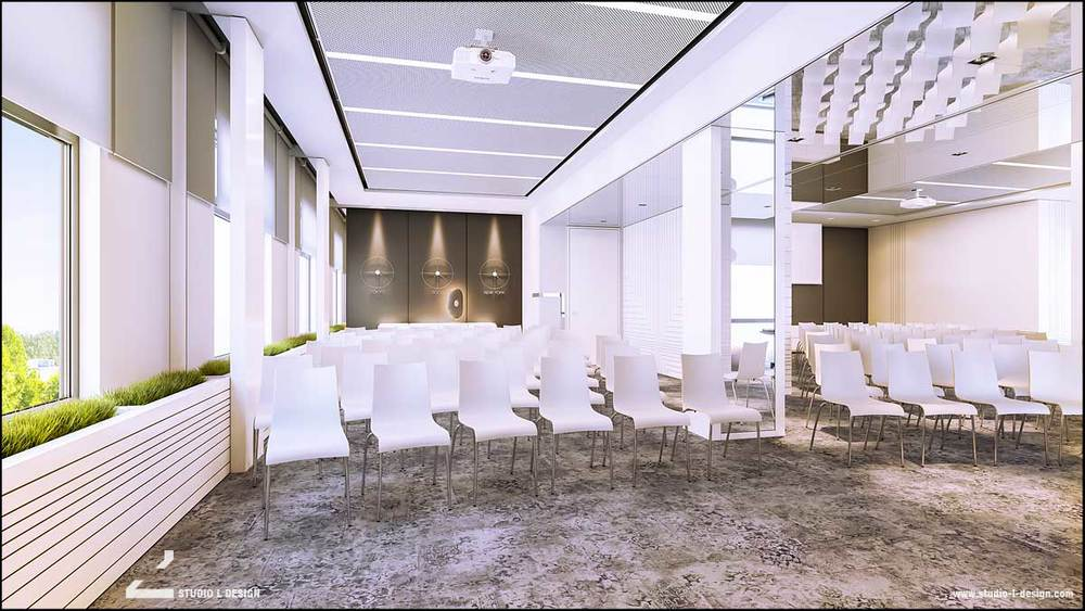 Conference hall interior design
