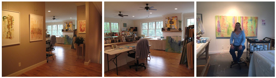 Scenes from my Asheville Studio.