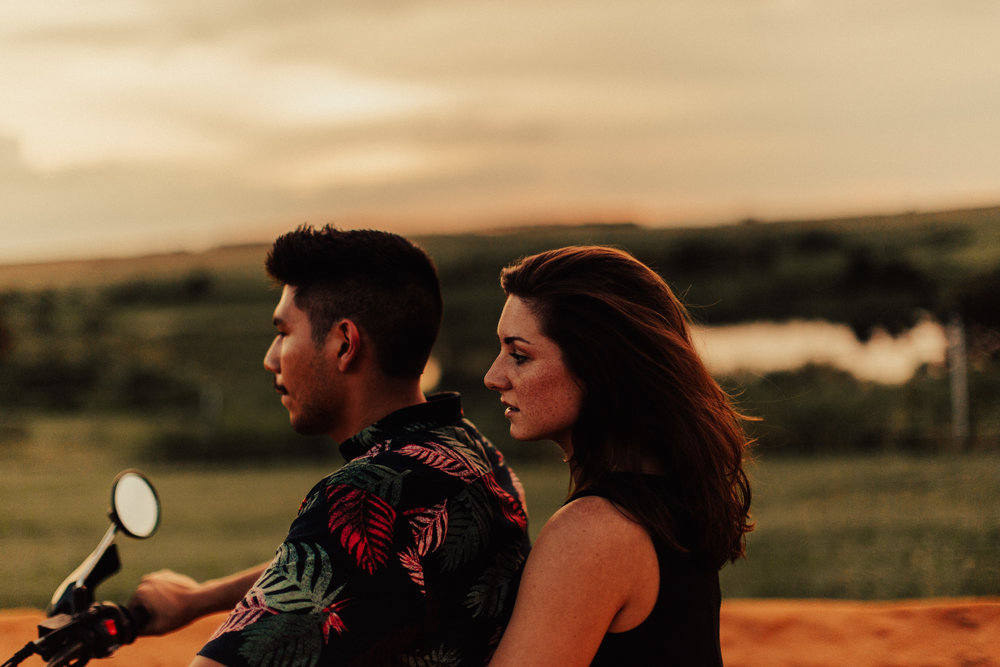 David and Jessie ride into the firey sunset
