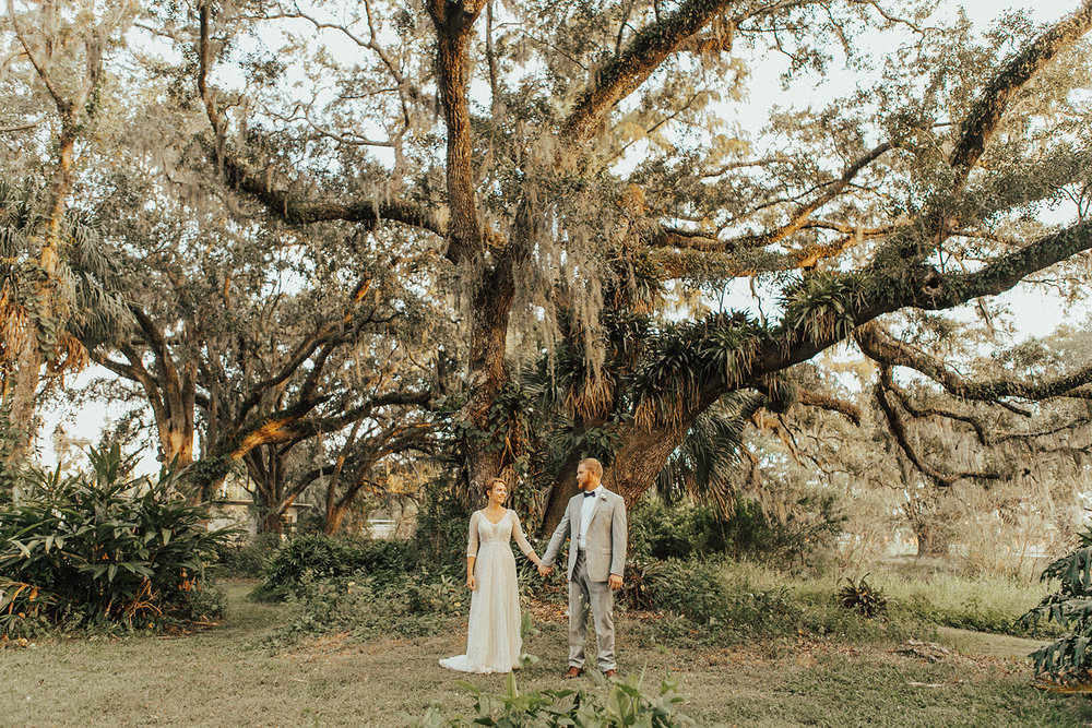 Amy and Kyle - where better to devote forever than your own backyard?