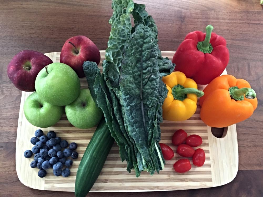 Some of my favourite organic fruits & veggies!