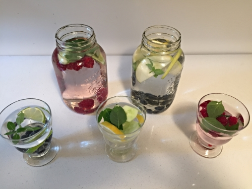 Deliciously pretty  infused water!