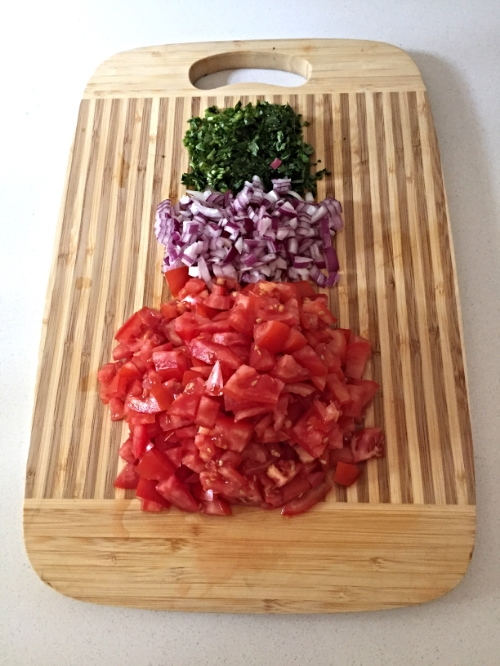 Freshly Chopped...Cilantro - Red Onion - Tomato