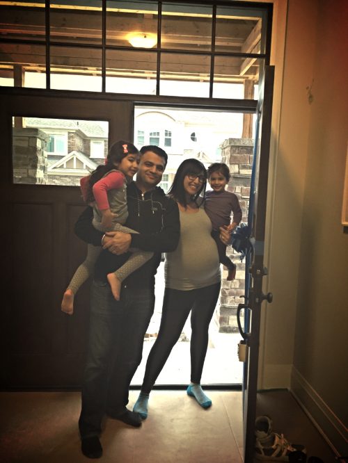 That beautiful day last week when we got the keys to our new home! Lily, Jas, Me and my baby bump, Olivia <3
