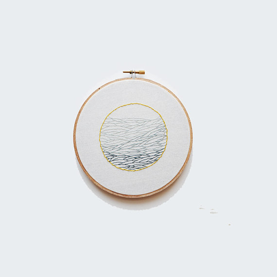 Sarah K Benning  embroidered hoop , $35.