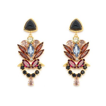Palace earrings in ruby , $330