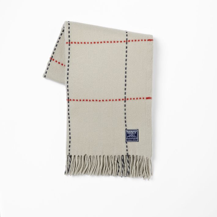 Faribault for West Elm  wool throw blanket,  on sale right now for $79.99