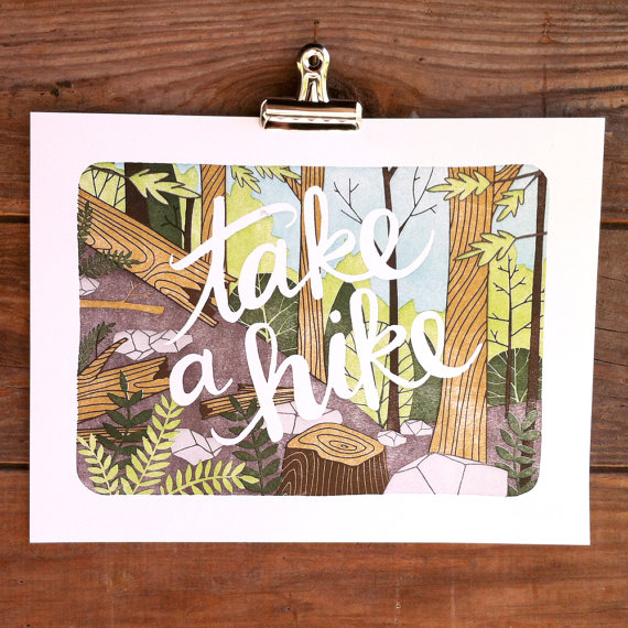 1Canoe2  8x10 letterpress print , $32