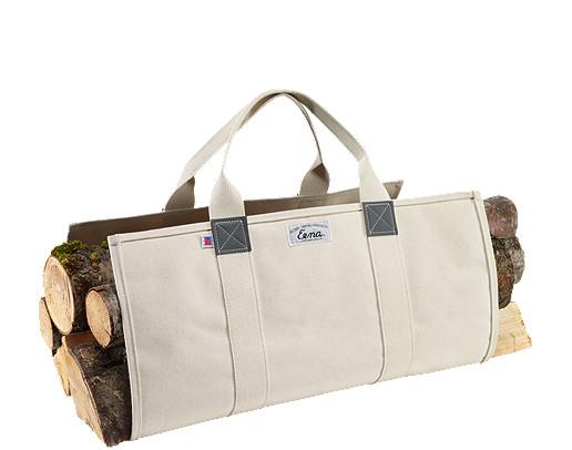Beckel canvas log carrier, $28