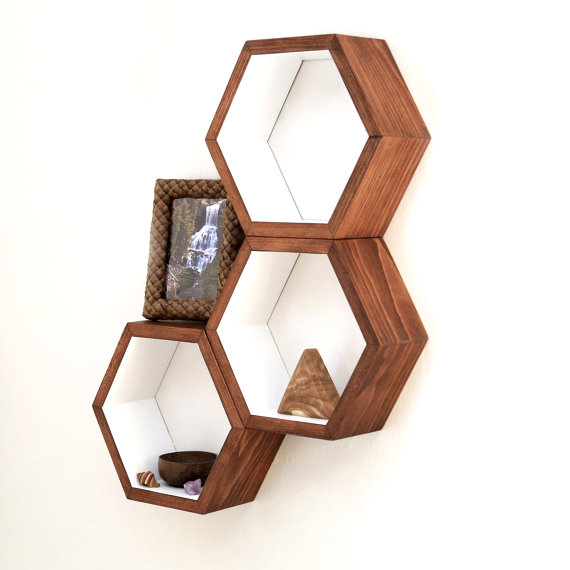 Hasse Handcraft honeycomb cubby shelves, $84 set of 3