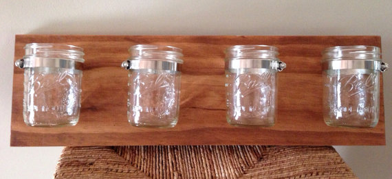 Carolina Hazels mason jar storage, $45