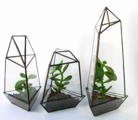 Lonesome Hobo  terrariums , $65 each.